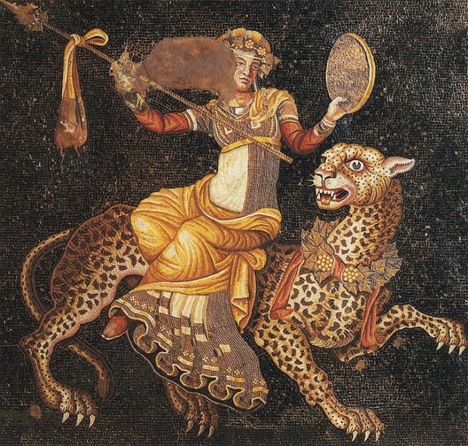Dionysos riding on a panther. Ca. 120—80 B.C. Delos, House of the Masks.